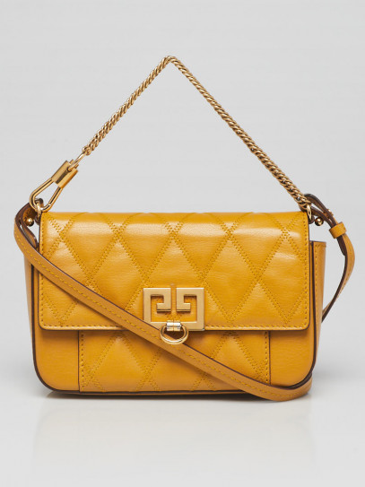 Givenchy Golden Quilted Leather GV3 Crossbody Bag