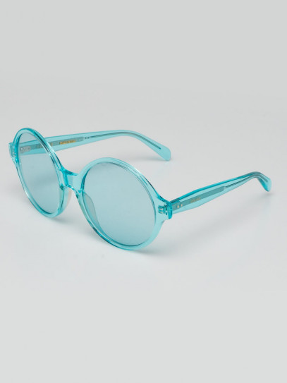 Celine Turquoise Acetate Oversized Round Sunglasses- CL400511