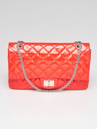 Chanel Red 2.55 Reissue Quilted Patent Leather 227 Jumbo Flap Bag