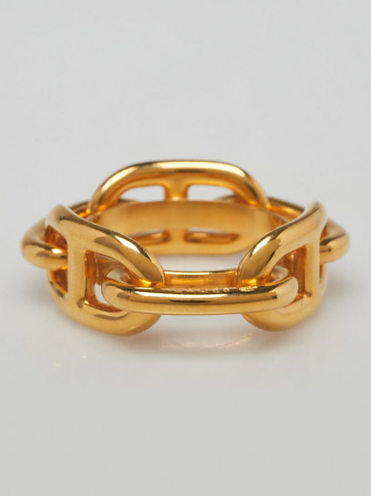 Hermes Gold Plated Permabrass Regate Scarf Ring