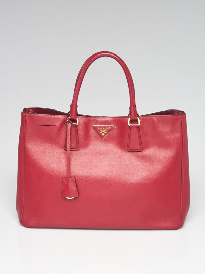 Prada Red Saffiano Leather Large Tote Bag BN1844