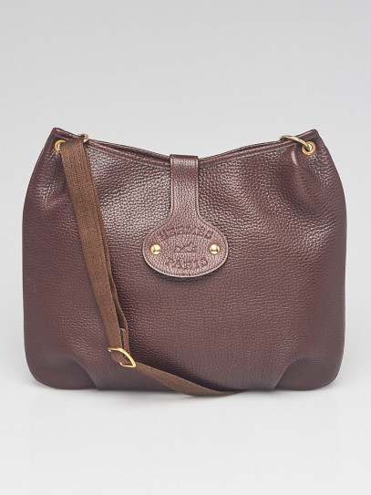 Hermes Brown Taurillon Clemence Leather Mini Rodeo Bag