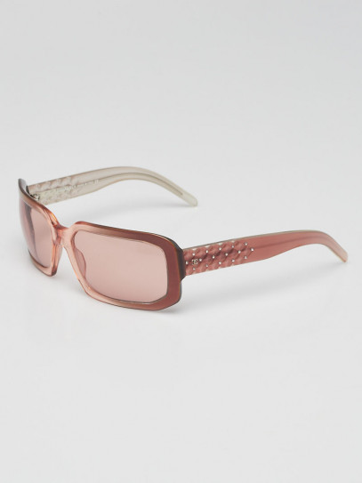 Chanel Pink Transparent Acetate Gradient Tint Crystal Quilted Sunglasses- 5063-B