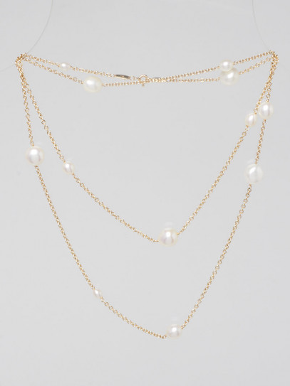 Tiffany & Co. 18k Yellow Gold and Pearl 'Pearls by the Yard' Sprinkle Necklace