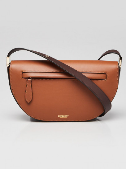Burberry Warm Tan Leather Small Olympia Shoulder Bag
