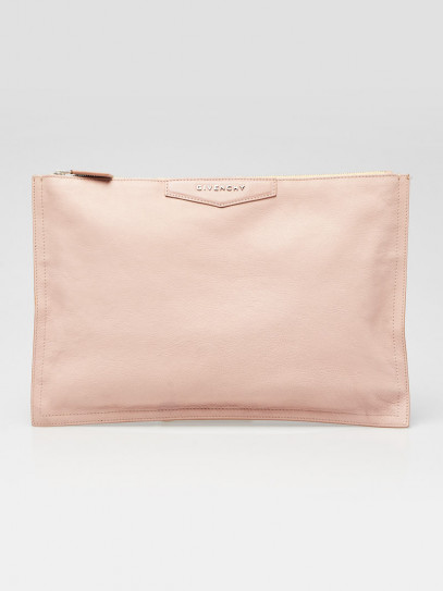 Givenchy Pink Grained Goat Leather Antigona Large Pouch Bag