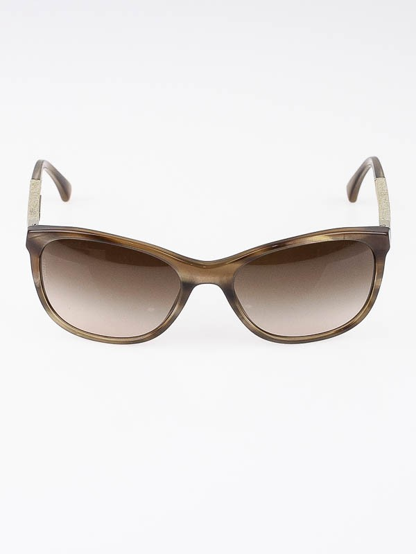 Chanel Blue Frame Glasses : Chanel Light Brown Tortoise Frame Blue Denim Wayfarer ...