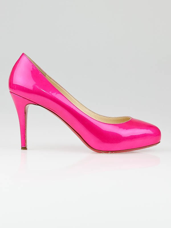 christian louboutin declic 90 patent-leather pumps
