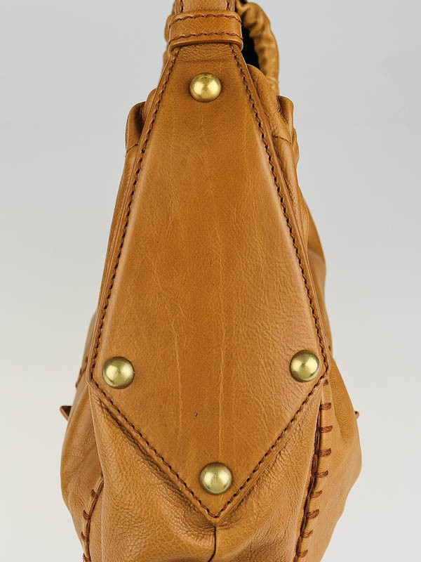 Yves Saint Laurent Camel Leather Vincennes Mombasa Hobo Bag ...