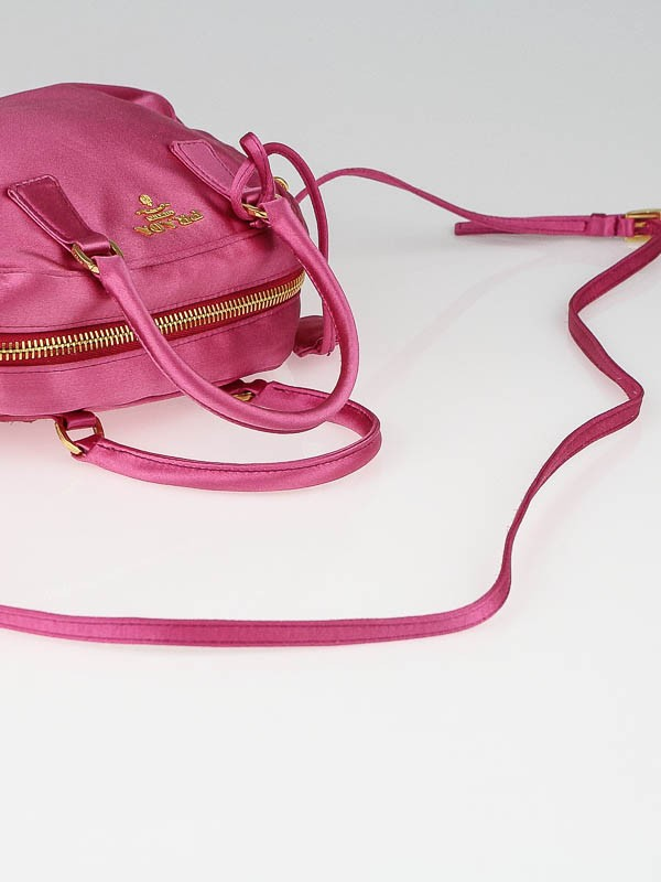 Prada Fuxia Satin Raso Gold Micro Mini Top-Handle Bag BL0444 ...