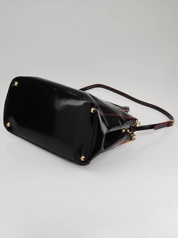 prada patent leather spazzolato shoulder bag
