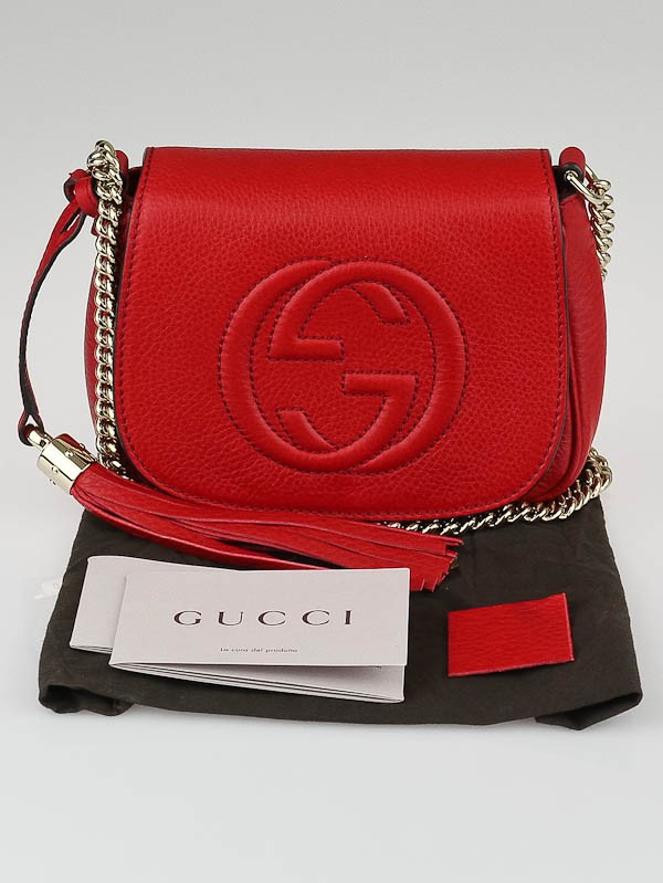 d9d0ee278ef9cb Gucci Soho Mini Chain Bag Red | Stanford Center for Opportunity ...