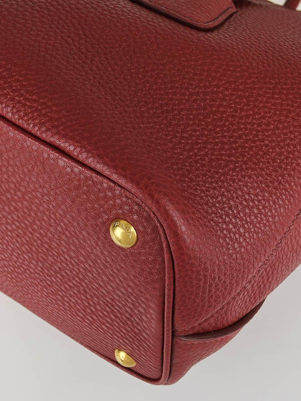Prada Rubino Vitello Daino Leather Top Handle Tote Bag BN2655 ...