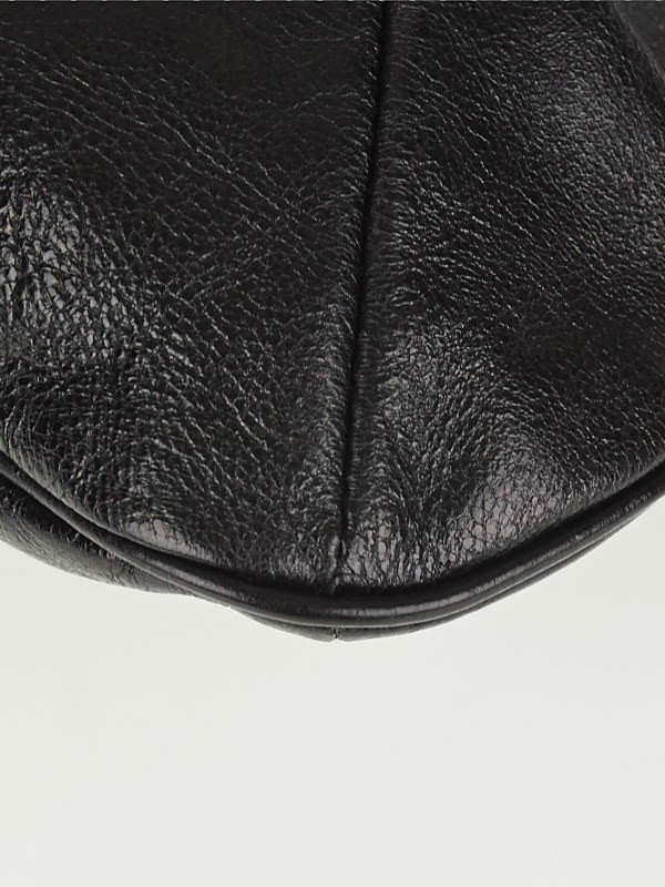Yves Saint Laurent Black Leather Mini Mombasa Horn Bag - Yoogi\u0026#39;s ...