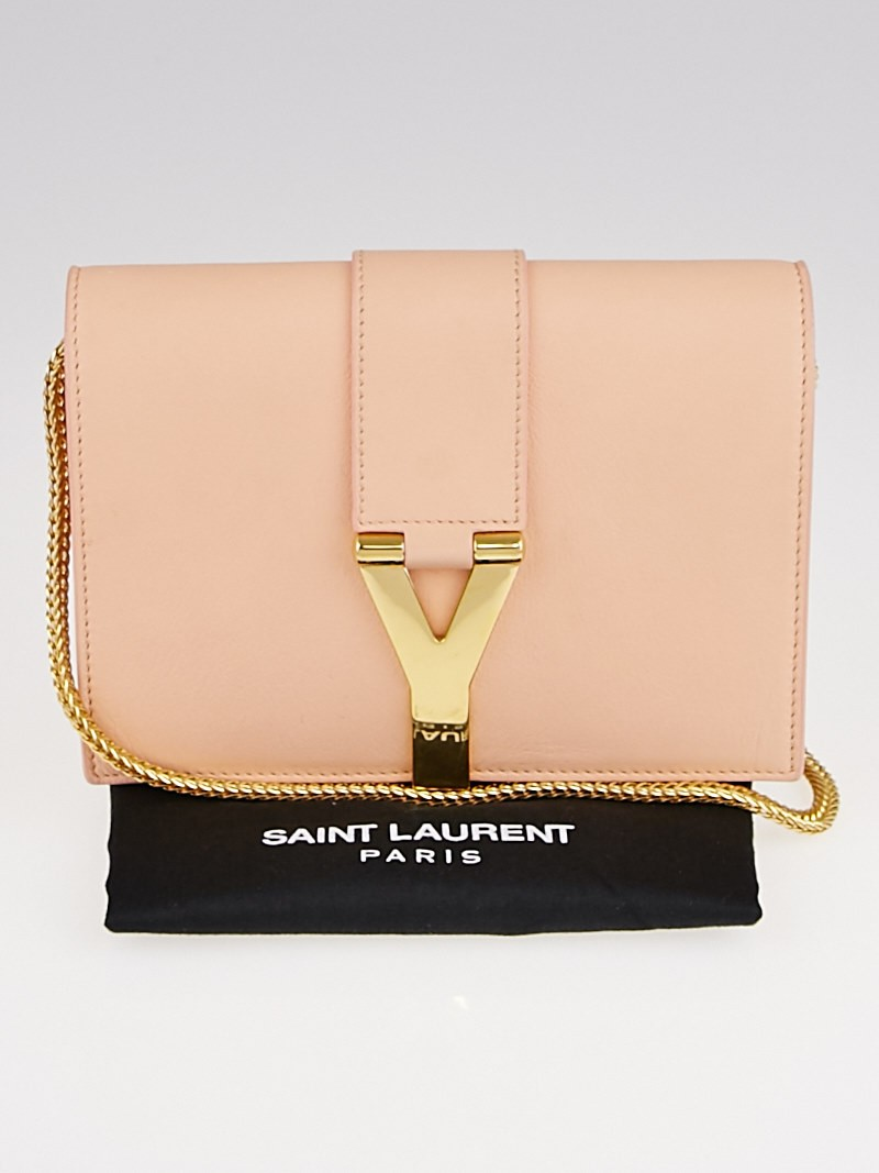 Yves Saint Laurent Pink Leather Y Ligne Mini Pochette