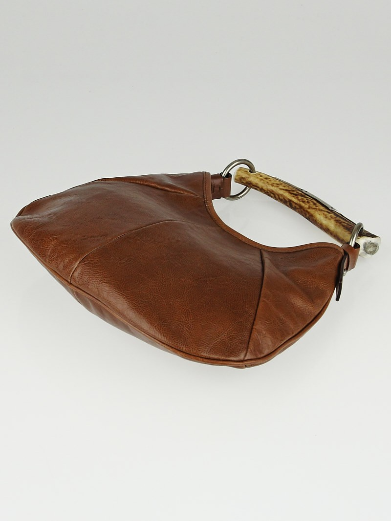 Yves Saint Laurent Brown Leather Mini Mombasa Horn Bag - Yoogi\u0026#39;s ...