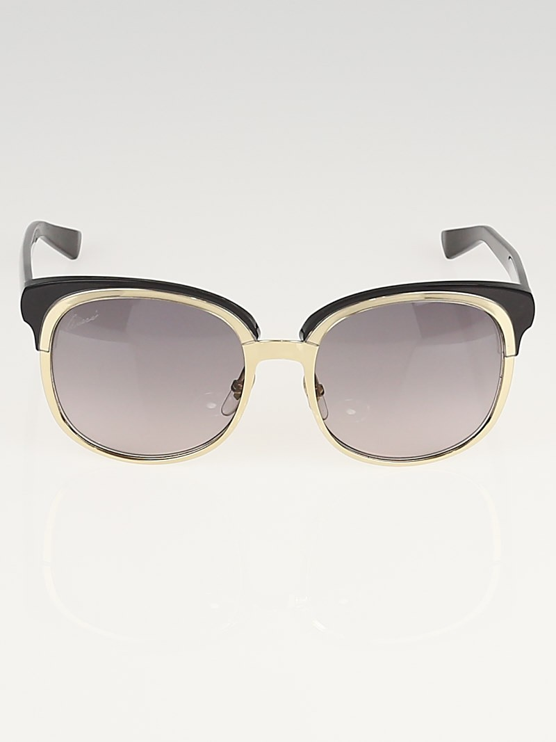 Gucci Black/Gold Frame Gradient Tint Sunglasses-4241/S ...