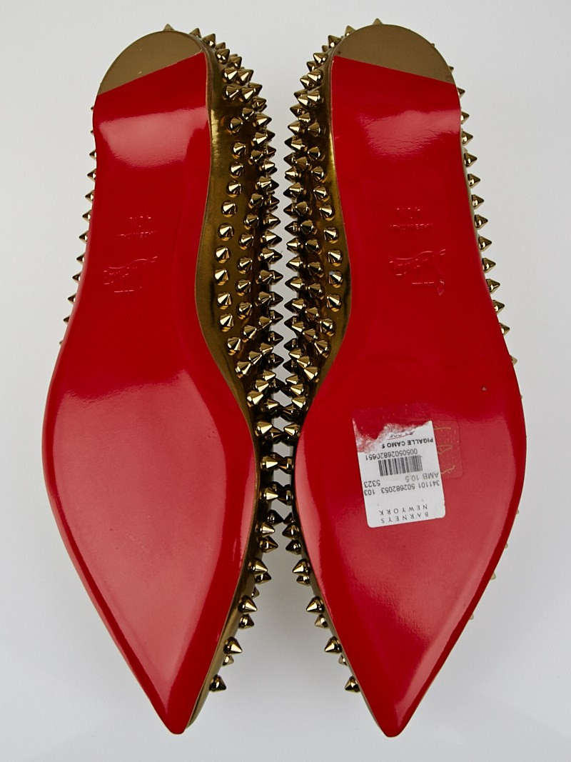 Christian Louboutin Bronze Specchio Calf Leather Pigalle Spikes ...