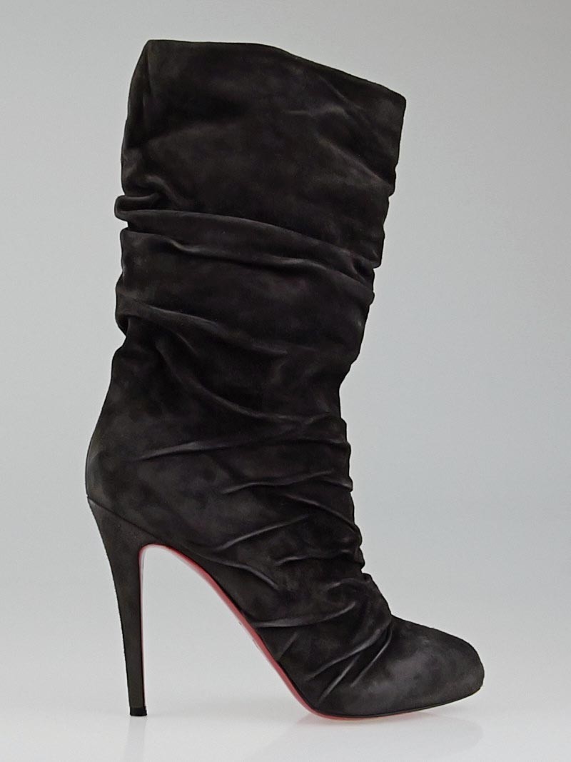 Peony Design ? christian louboutin piros 120 brown suede boots