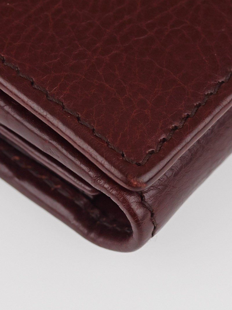 Yves Saint Laurent Brown Leather Muse Portefeuille Wallet ...