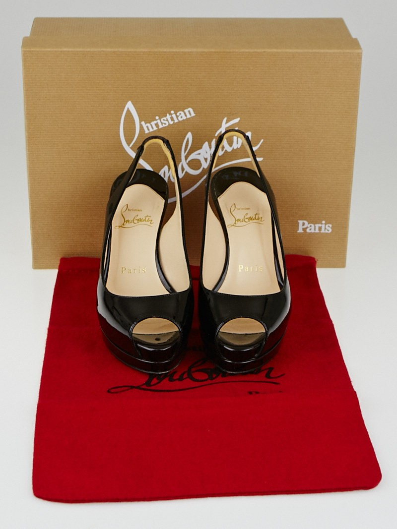 Christian Louboutin Oxblood Patent Leather Cathay 100 Pumps Size 4 ...