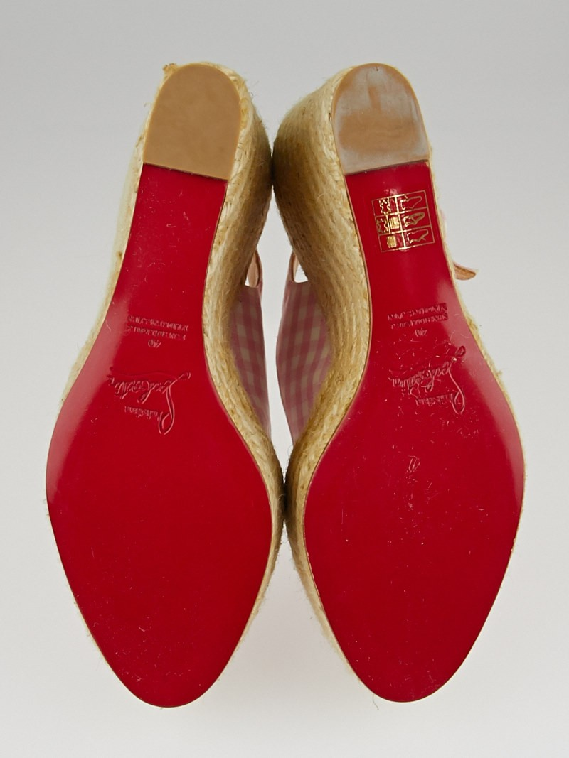 christian louboutin espadrille wedges Red canvas | The Filipino ...