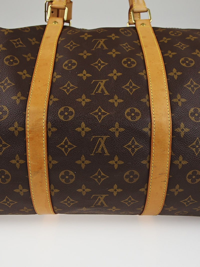 louis vuitton monogram canvas keepall 60 bag yoogi 39 s closet. Black Bedroom Furniture Sets. Home Design Ideas