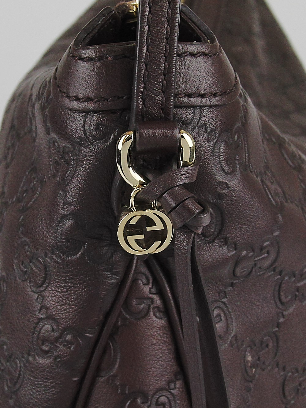 Gucci Ebony Guccissima Leather Bree Original Hobo Bag - Yoogi's Closet