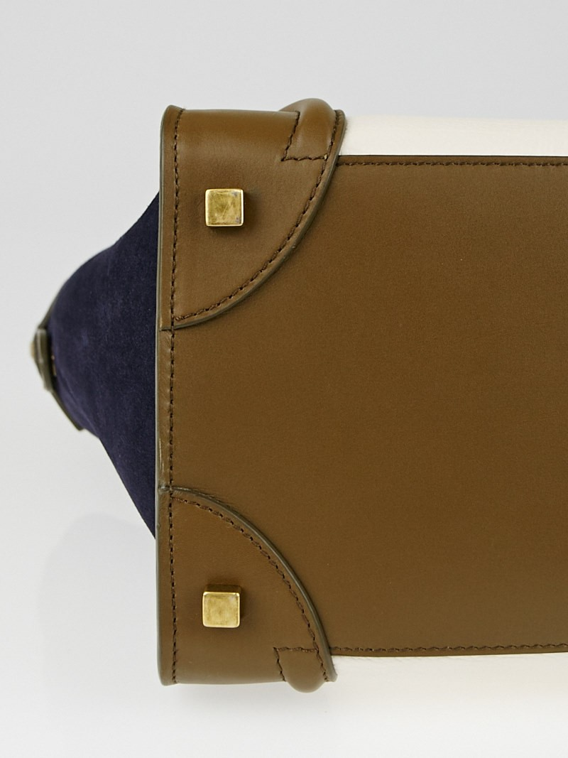 how much is the new celine bag - celine mini luggage tote - leather/tricolor