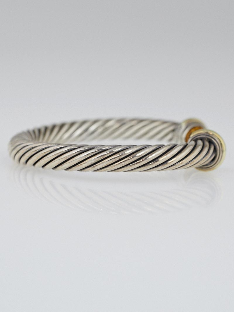 David yurman 7mm sterling silver and citrine cable for David yurman inspired bracelet cable