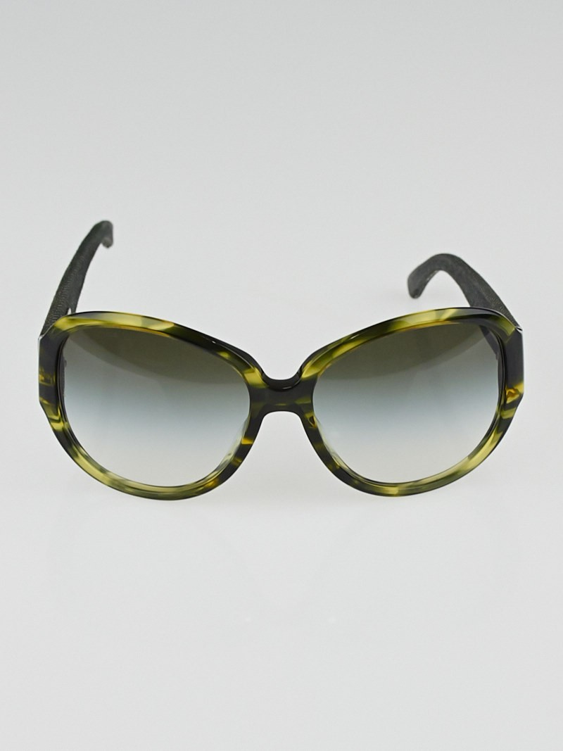 Chanel Glasses Frame Malaysia : Chanel Green Oversize Frame and Denim CC Sunglasses ...