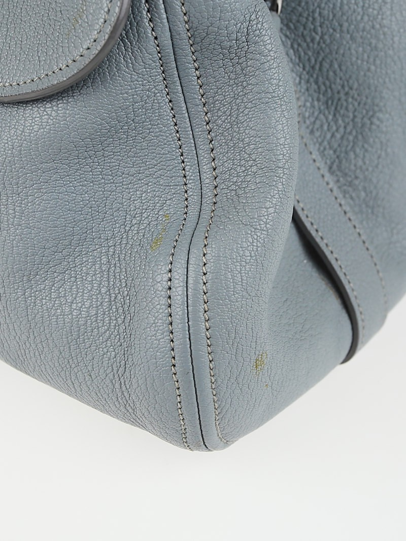 Miu Miu Pervinca Goatskin Leather Madras Sacca 2 Manici Bag ...
