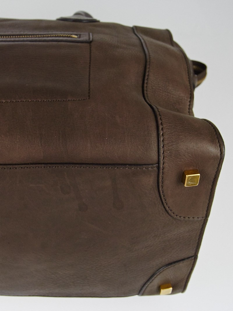 celine brown leather travel bag