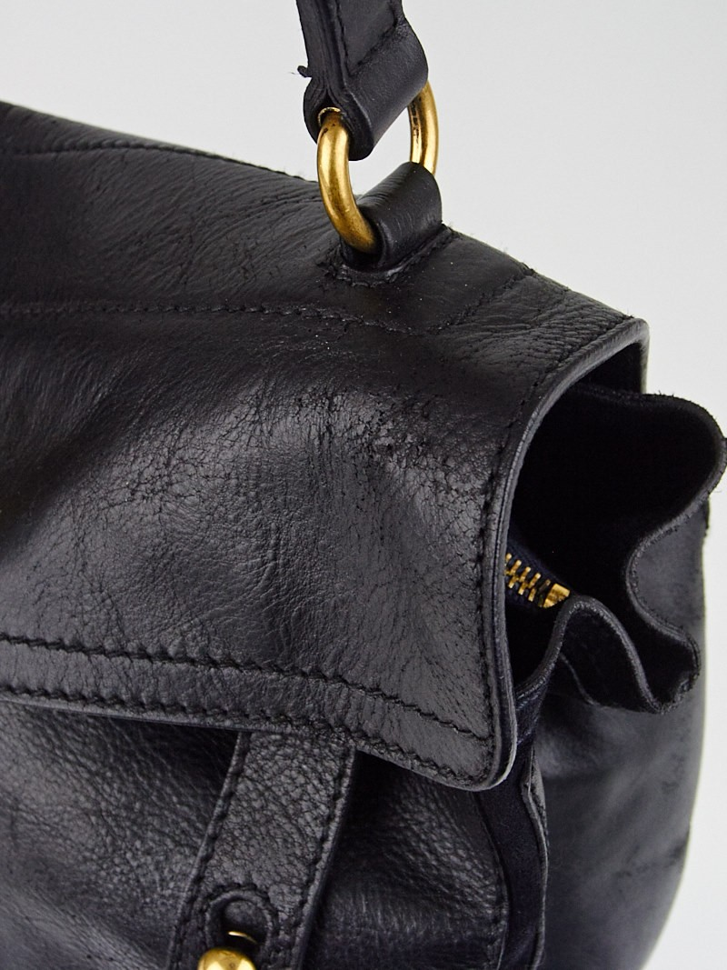 Yves Saint Laurent Black Leather/Suede Medium Muse Two Bag ...