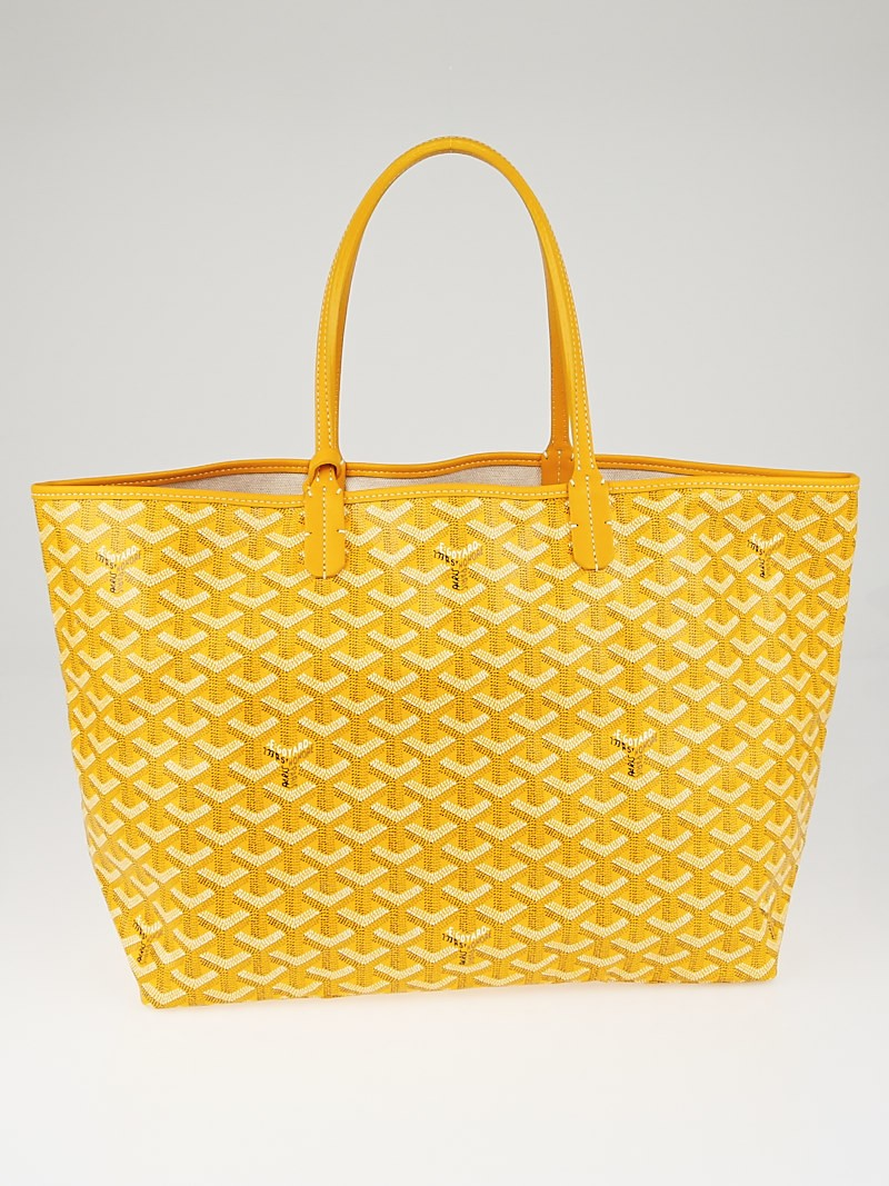 Goyard Yellow Chevron Print Coated Canvas St Louis Pm Tote Bag Handbags 10073965
