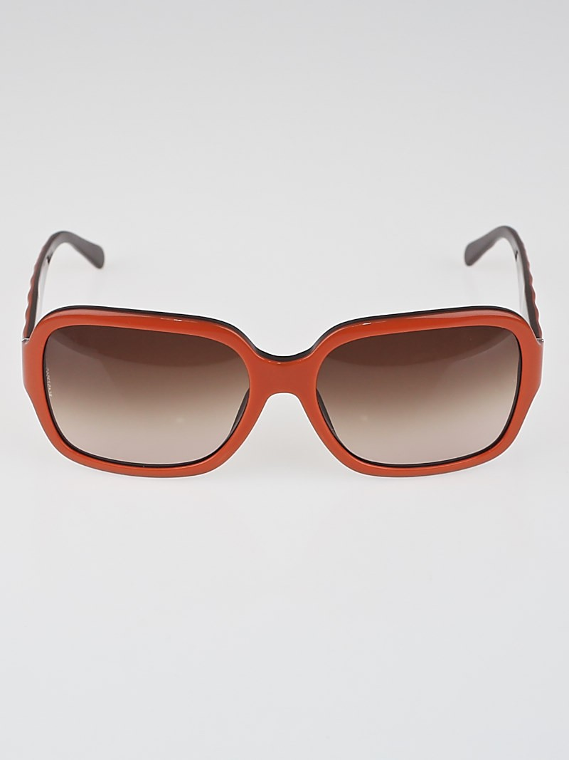 Chanel Orange Plastic Frame Oversized Sunglasses-5124 ...
