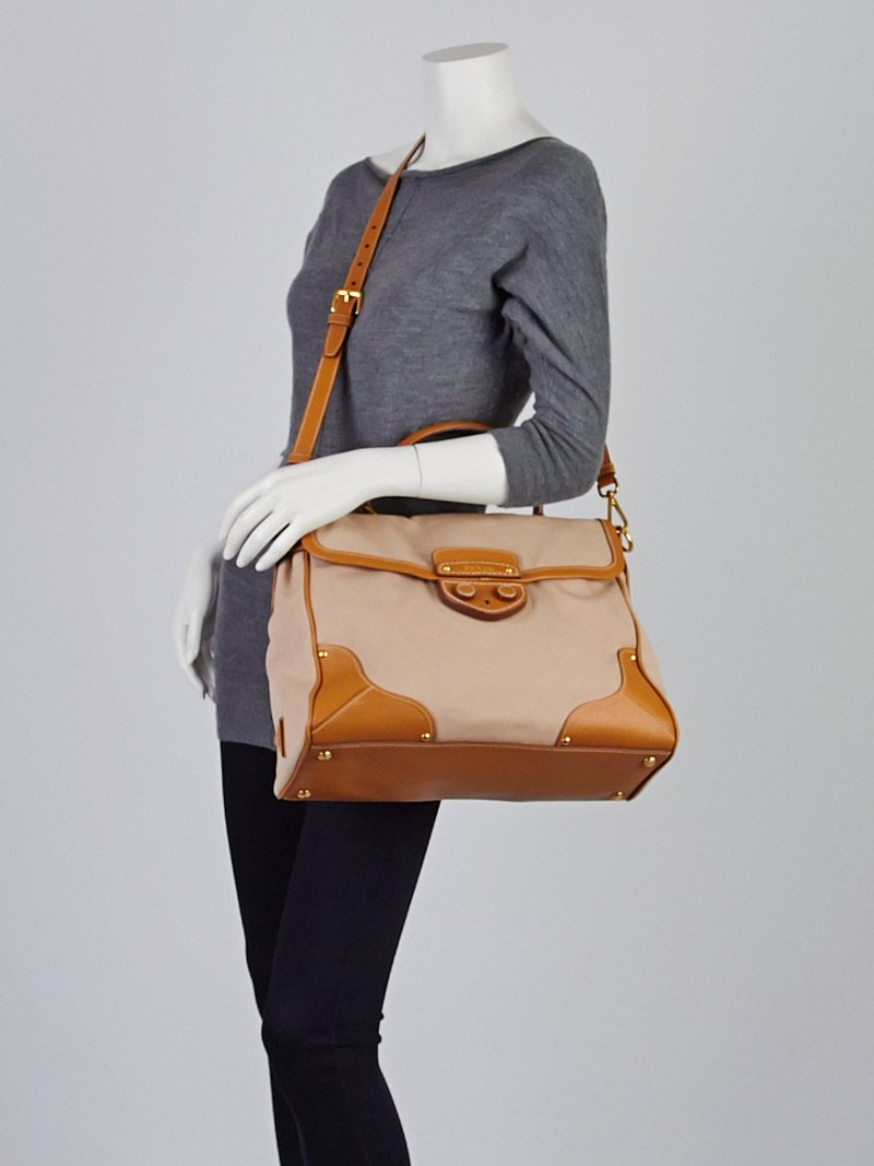 leather prada bags - Prada Corda/Cuoio Canapa and Cinghial Canvas Pattina Satchel Bag ...