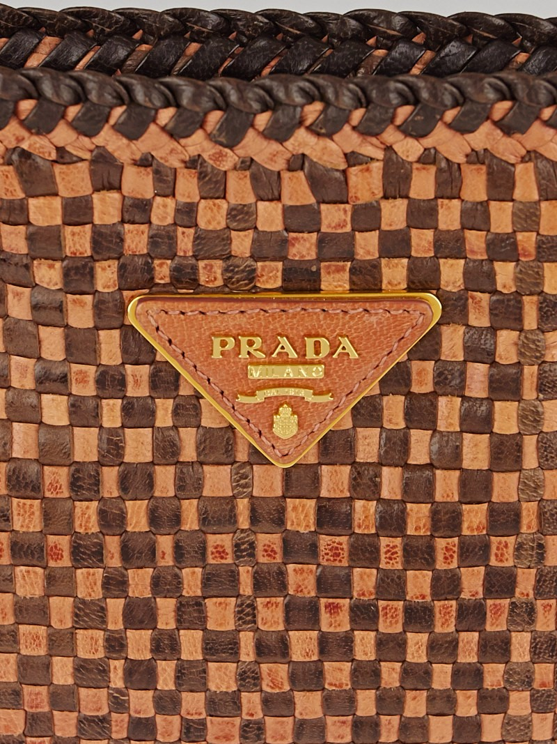 discount prada luggage - prada - madras leather bag -