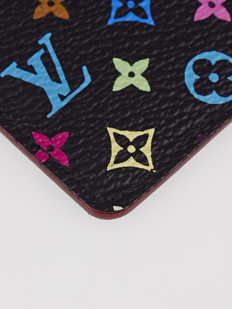 Louis vuitton black monogram multicolore etui miroir for Monogram miroir