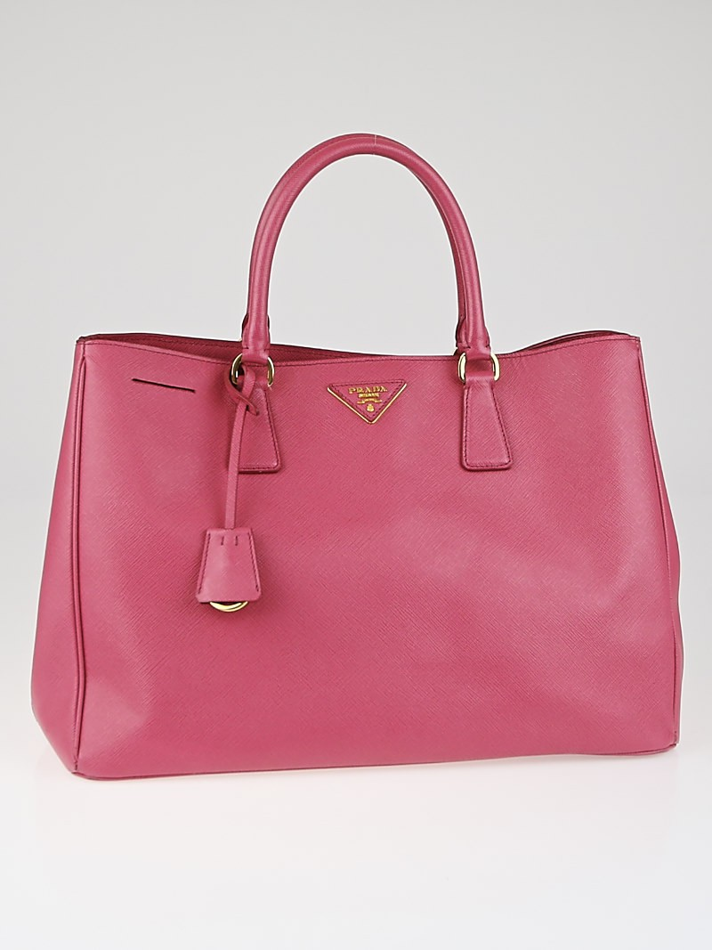 Prada Bruyere Saffiano Lux Leather Large Tote Bag BN1844 - Yoogi\u0026#39;s ...