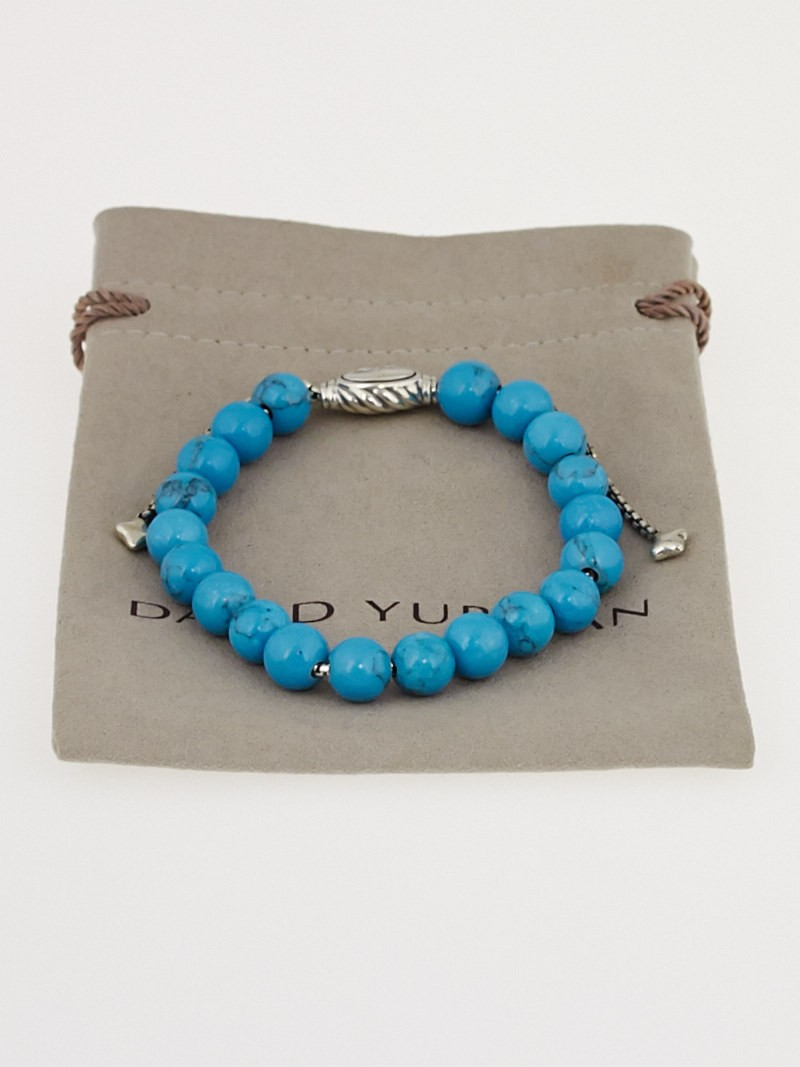 David yurman 8mm turquoise spiritual beads adjustable for David yurman like bracelets