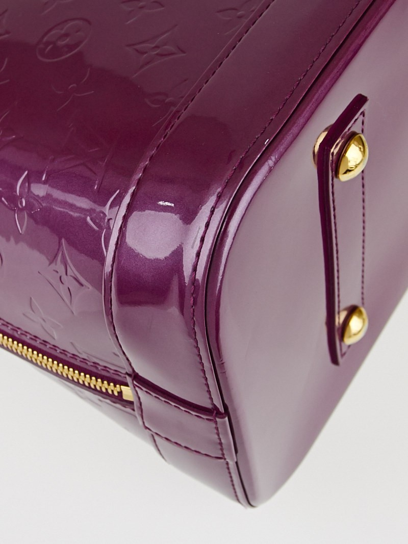 Louis Vuitton Violette Monogram Vernis Alma GM Bag - Yoogi\u0026#39;s Closet
