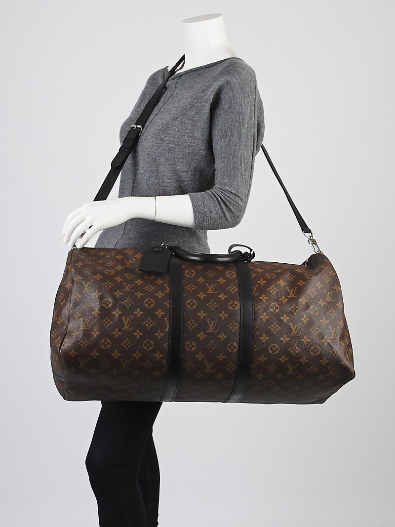 Louis Vuitton Monogram Macassar Keepall Bandouliere 55 Bag ...