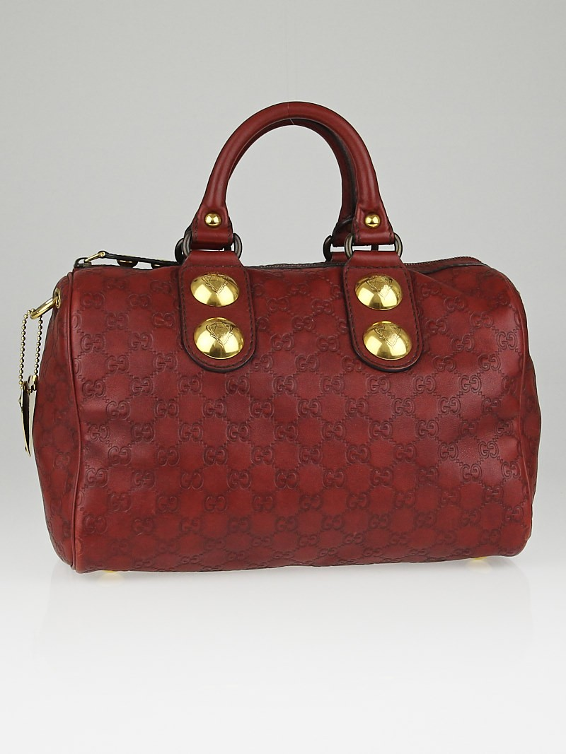 eec5604c9273 Gucci Guccissima Boston Bag Red | Stanford Center for Opportunity ...