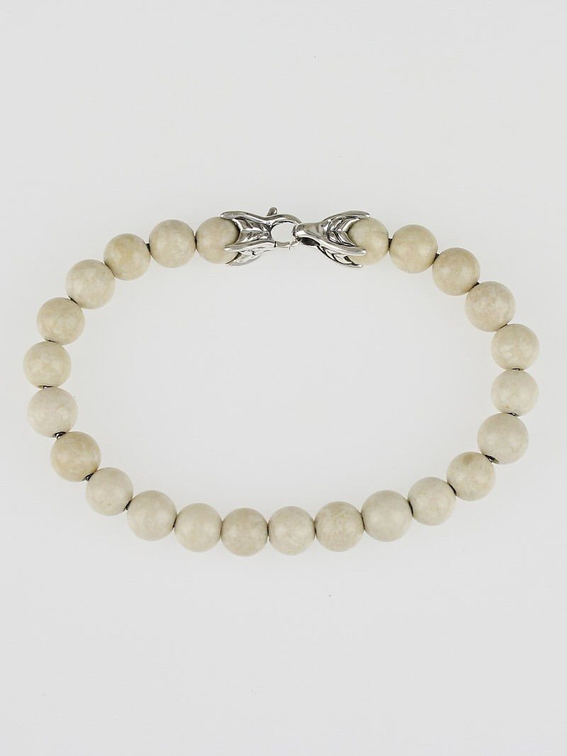 David yurman 8mm river stone spiritual bead bracelet for David yurman like bracelets