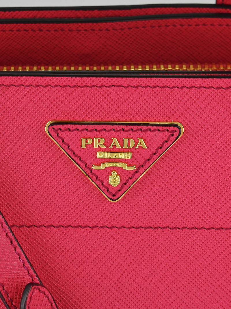 prada designer handbags - Prada Peonia Saffiano Soft Leather Tote Bag BN2606 - Yoogi\u0026#39;s Closet