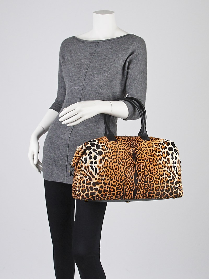 roady bag ysl - Yves Saint Laurent Leopard Print Pony Hair Easy Y Bag - Yoogi\u0026#39;s Closet