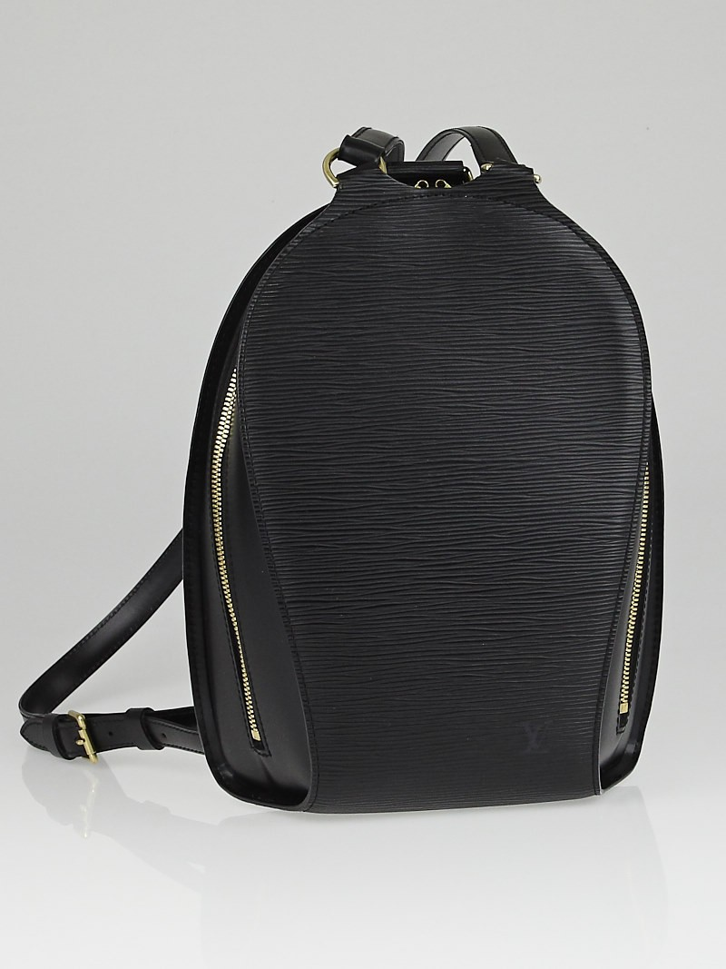 louis vuitton black epi leather mabillon backpack bag yoogi 39 s closet. Black Bedroom Furniture Sets. Home Design Ideas