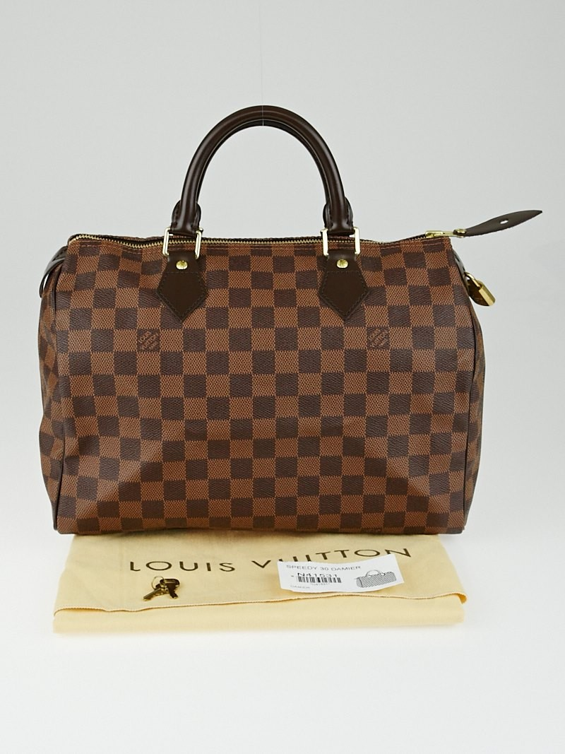 louis vuitton damier canvas speedy 30 bag yoogi 39 s closet. Black Bedroom Furniture Sets. Home Design Ideas