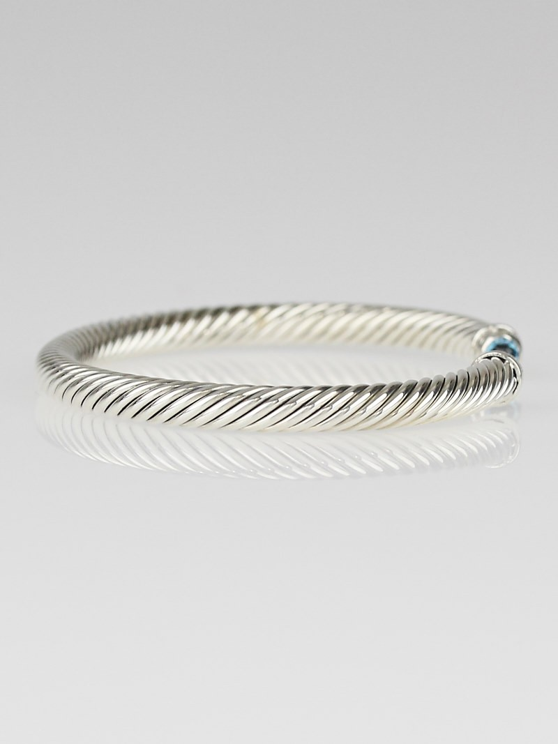 david yurman 5mm sterling silver and blue topaz with